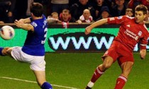 Steven Gerrard, right, scored a hat-trick the last time Liverpool played Everton